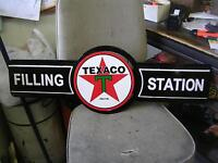 TEXACO FILLING STATION DECORATIVE TIN ENAMEL SIGN $70.00
