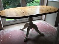 Solid wood dining table (shabby chic style)