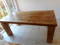 Large solid oak table