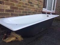 Steel bath hardly used