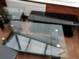 3 piece: coffee table, side table, tv Stand