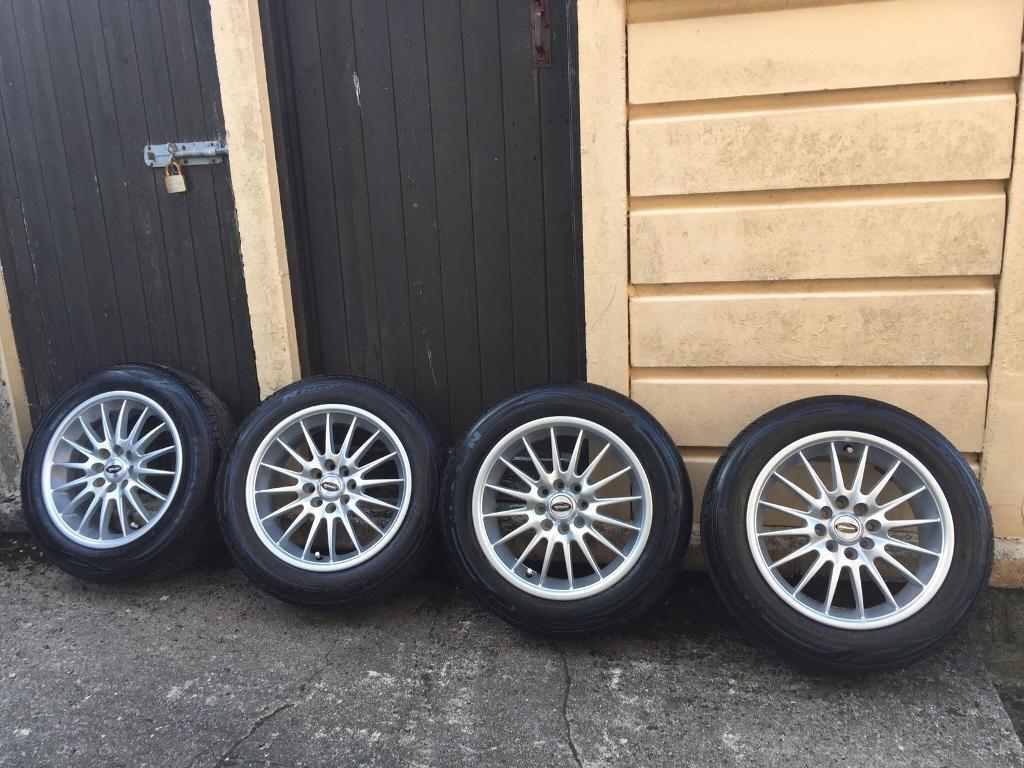Alloy wheels with tyres 185/60/15