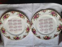 Royal Albert plates