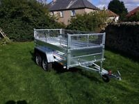 Car trailer 8.7 x 4.1 twin axle-build, side and mesh