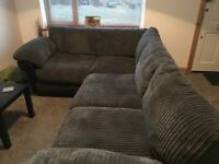 *collection only* Black and Grey corner sofa, 3 months old, perfect condition.