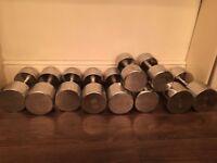 Steel dumbbellset 20-30kg