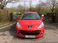 2010 PEUGEOT 207 RED 1.4 PETROL INSURANCE CAT D 42000 MILES IMMACULATE CONDITION