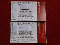 X2 SOLD OUT 2017 PREMIER LEAGUE DARTS TABLE TICKETS CARDIFF MOTORPOINT MVG PHIL TAYLOR GARY ANDERSON