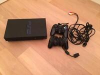 PlayStation 2 with controllers and original cables console PS2