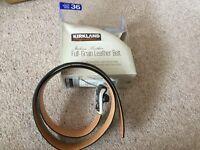 Mens/ boys black leather grain belt , size 32 ,brand new never worn