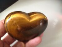 Massive Heavy Heart Shape Tigers Eye Gemstone Healing Metaphysically Properties