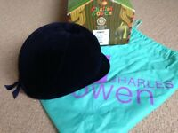 Charles Owen Young Navy Horse Riders Hat, Size 7 1/8