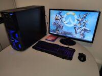 PC GAMING BUNDLE - AMD QUAD CORE - 16GB RAM - RADEON RX - 2TB SSHD - WARRANTY - DELIVERY
