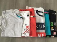 Boys t-shirts x 6 - age 11-12