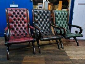 Chesterfield Slipper Chairs