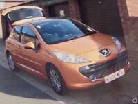 Peugeot 207 1.6hdi Sport, Years mot, £30 road tax.