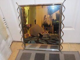 Small silver chrome mirror