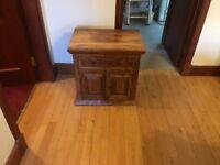 Small Sheesham wood cupboard for sale