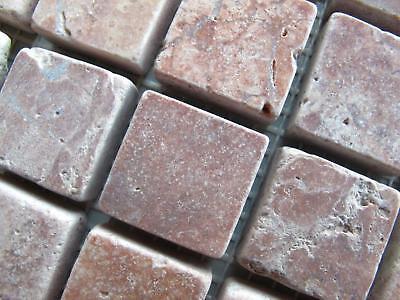 Travertin Mosaiknetz Naturstein Wandfliesen Antikmarmor Red Muster  Boden Fliesen