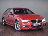 BMW 3 SERIES 320I XDRIVE M SPORT 4DR STEP AUTO (red) 2012