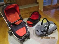 i candy travel system including car seat
