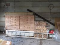 wooden trellis fencing
