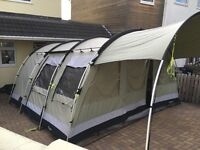 Outwell Bear Lake 6 tent with carpet & front extension