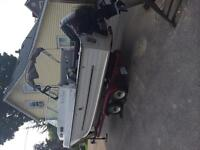 120 hp motor and boat trailer (hull is scrap) - $2000
