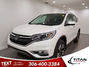 2015 Honda CR-V Touring|AWD|Cam|Bluetooth|Leather|Nav