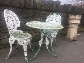 Reclaimed Patio Set / Bistro Set / Garden Table & 2 Chairs Can Deliver