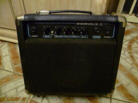 Two electric guitar amps.