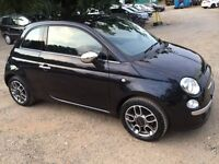 Stunning Rare Black Fiat 500 Lounge, Only 5600 miles, Upgraded Alloys Plus More, 1 Owner
