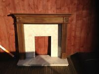 Wooden and Marble Fire Surround