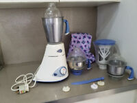 Preethi Blue Leaf Platinum 4 Jar Mixie Wet and Dry Grinder with accessories