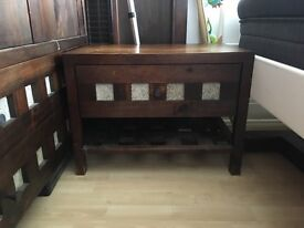 King size bed, wardrobe, chest of drawers, bedside table - solid wood