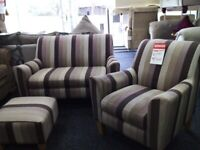 Neww next sofa accent chair poufee set delivery available