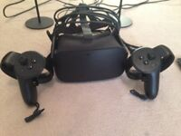 Oculus Rift CV1 headset with Rift touch Controllers and 2 sensors - in original boxes
