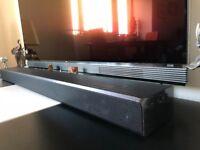 Samsung Dolby Atmos Soundbar with 2 surround speakers, 1 subwoofer & speaker stands (Model: HW-K950)