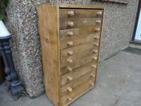 ENGINEERS CABINET - WATCHMAKERS CABINET - TOOL CABINET - MULTI CHEST - VINTAGE
