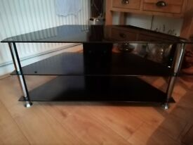 Glass TV Stand.