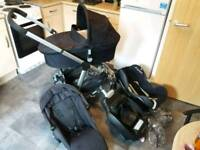 I-candy apple to pear pram/buggy, isofix and car seat