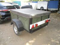 5-0 X 4-0 (UNBRAKED) GOODS TRAILER WITH COVER.....
