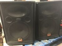 PA Speakers and Mixing Desk