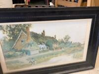 Print in antique frame