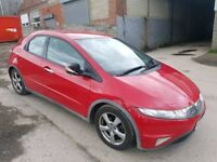 2006 HONDA CIVIC 2.2 EX- CTDI 5 DOOR HATCHBACK RED