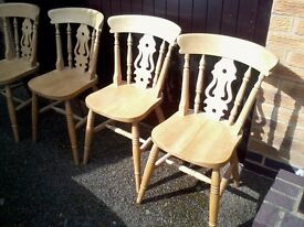 Kitchen Chairs - Solid Wood Farmhouse Style