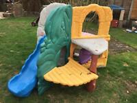 Little tikes climbing frame and slide