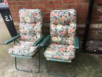 Pair of garden relaxing chairs