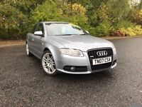 2007 AUDI A4 2.0 TFSI QUATTRO 4WD S LINE SPECIAL EDITION V2 GREY GREAT CAR MUST SEE £6750 OLDMELDRUM