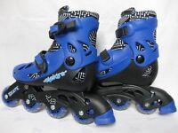 Elektra Kids 4-Wheel Inline Skates Size Adjustable 13-3 Blue/Black Hard-Wearing VGC